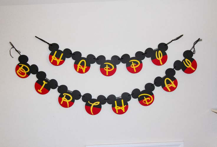 Mickey Mouse banner, Mickey birthday, mickey mouse birthday party, boys birthday party by OneCraftyChick757 on Etsy https://www.etsy.com/listing/385965266/mickey-mouse-banner-mickey-birthday