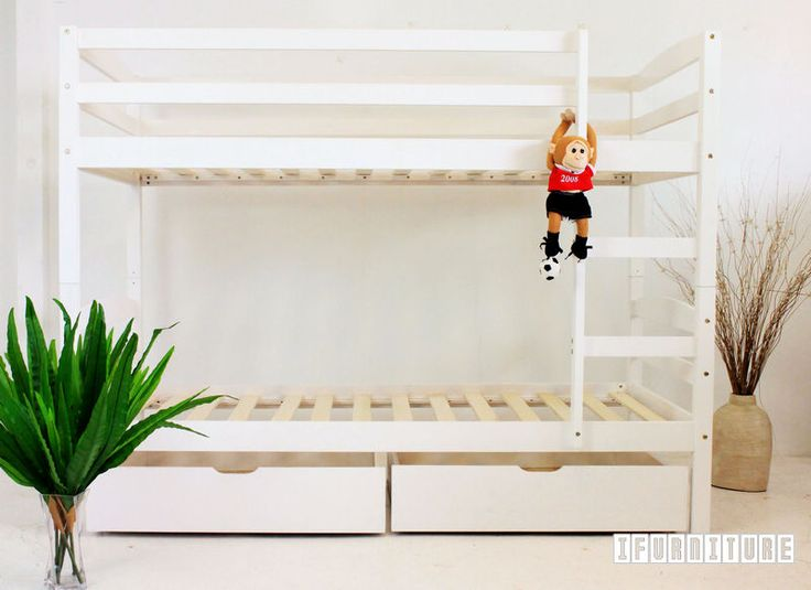 STARLET Bunk Bed with Storage *White Color , Bedroom, NZ's Largest Furniture Range with Guaranteed Lowest Prices: Bedroom Furniture, Sofa, Couch, Lounge suite, Dining Table and Chairs, Office, Commercial & Hospitality Furniturte