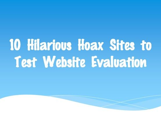 Ive been looking for something like this for W4WP: fake wensites! Teaching Website Evaluation