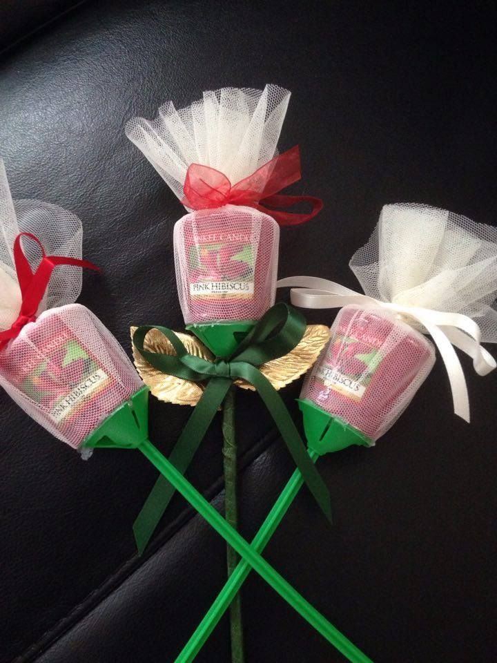 Small Candle Rose Valentine Goodies Pinterest Small