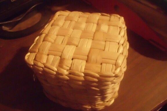 Detalle cesteria totora