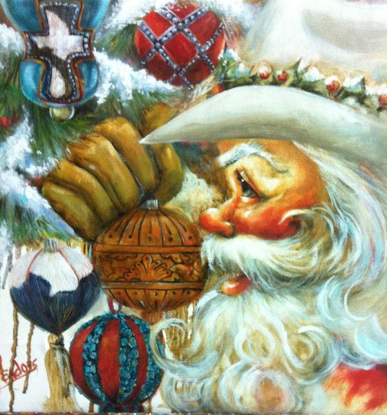 Texas Santa - 2 - New! | Celia Meadors Art - Amarillo, Texas
