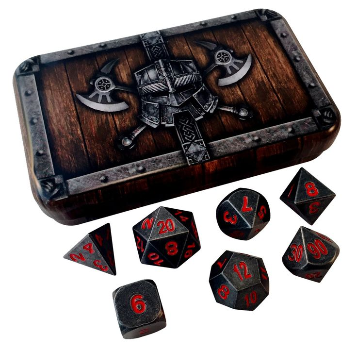 These are perfect for any RPGs such as Dungeons and Dragons, Pathfinder, Shadowrun, Savage Worlds, Math Games or anything else you can think of! - Set of 7 Metallic Polyhedral Role Playing Game Dice-
