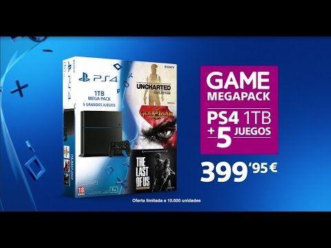GAME MegaPack de PS4 1TB con cinco juegos