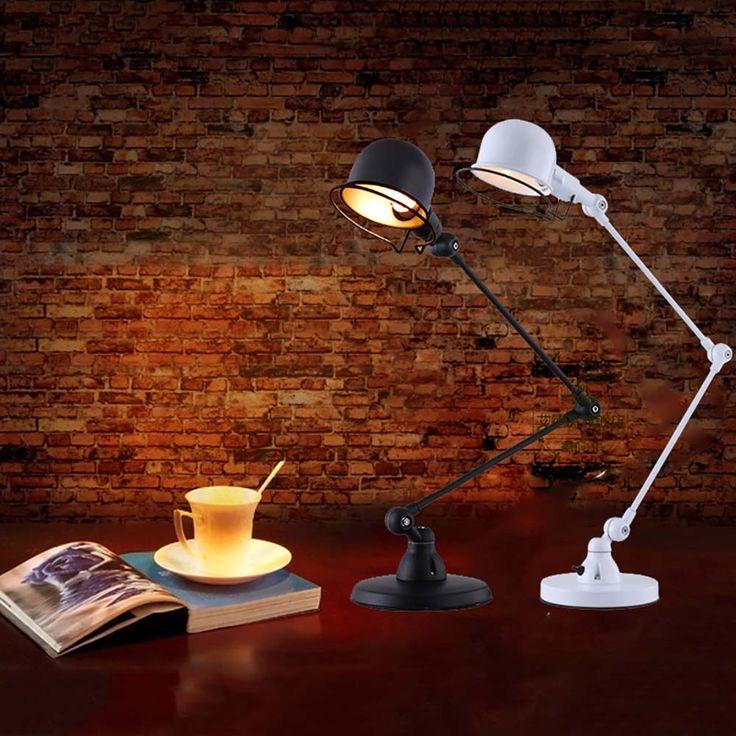 Современные Настольные Лампы Творческий Лампы Для Чтения Металлический Складной Настольные Лампы С Регулируемым Руку E14 СВЕТОДИОДНЫЕ Настольные Лампы купить на AliExpress