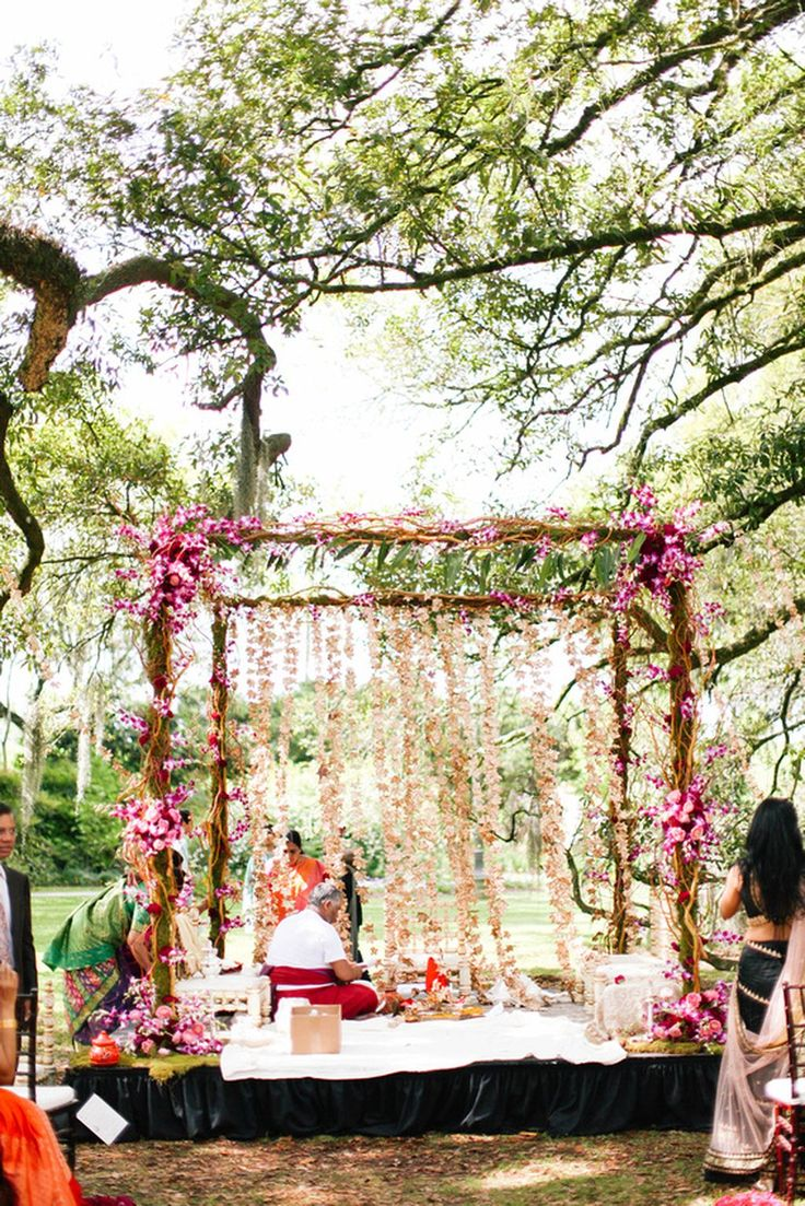 The Crimson Bride image. Bohemian South Indian Wedding in New Orleans, USA | Swathi & Jay