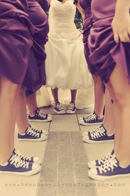 I think my whole wedding party should have matching shoes :)