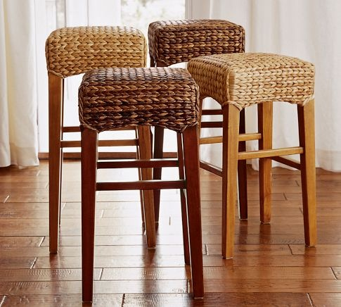 Seagrass Bar Stools Home Decor
