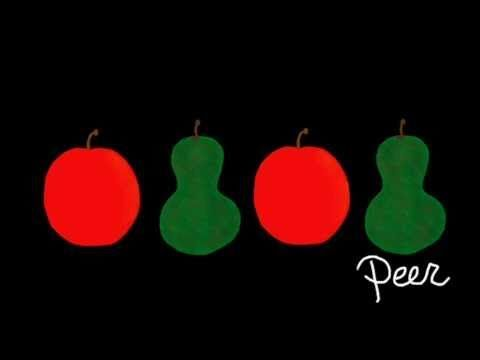 ritme opdracht met appel en peer. leuke muziek les foar module 3.1