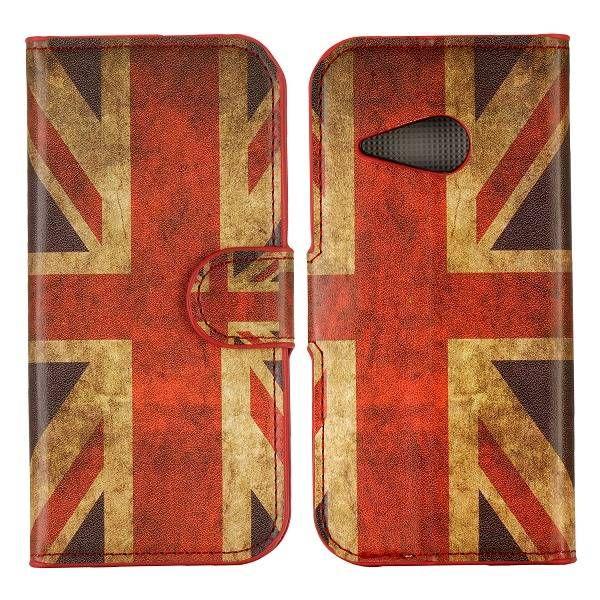 Britse vlag bookcase hoesje voor HTC One Mini 2