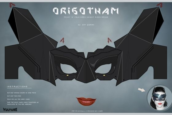 The Dark Knight Creases: Fold Your Own Catwoman Mask -- Vulture