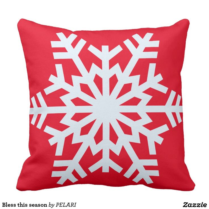 Bless this season throw pillow