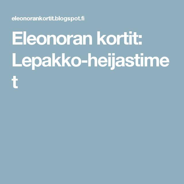 Eleonoran kortit: Lepakko-heijastimet
