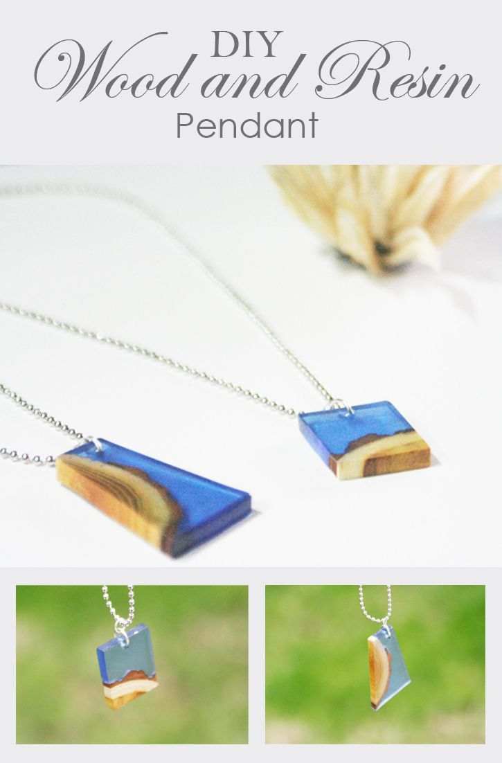 Check out this really cool wood and resin pendant made with EasyCast Clear Cast Epoxy and some wood pieces. All the details and photos are in this tutorial!