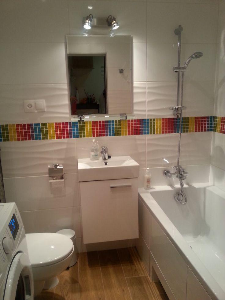 Wnętrza, MAŁA ŁAZIENKA Z TĘCZĄ 3m2 - Ot i moja wymarzona metamorfoza małej łazienki. Całe 3m2 ...