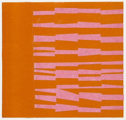 Pink and Orange from the series Line Form Color  Ellsworth Kelly (American, born 1923)  Museum of Modern Art    #PinPantone