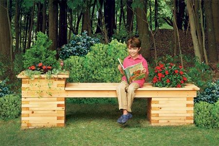 How to Build a Planter Bench: Lawn Furniture, This Old House, Benches Planters, Old Houses, Outdoor Benches, Planters Benches, Planters Boxes, Outdoor Planters, Gardens Benches