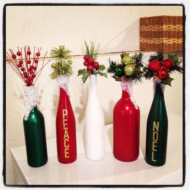Mil artes mujer diy adornos navide os con botellas de - Ideas adornos navidenos ...