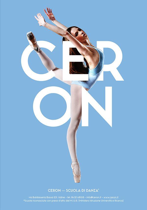Ceron Dance School - Posters Design by Ivan Moreale, via Behance