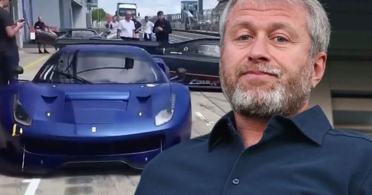 Chelsea owner ROMAN ABRAMOVICH shows off his £8.5m super car collection...