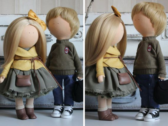 Portrait doll Couple doll Nursery doll Tilda by AnnKirillartPlace