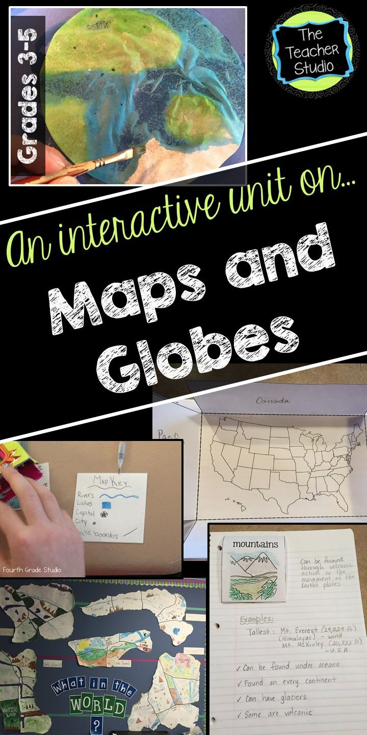 Maps And Globes Interactive Unit For Grades 3 5