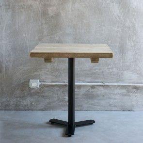 Tavolo quadrato in legno e ferro Luxe Lodge