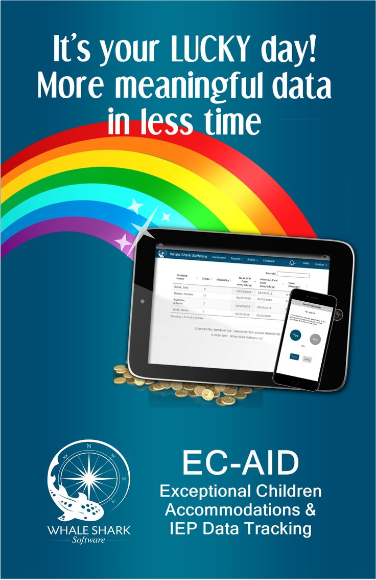 EC-AID helps teachers easily collect and manage IEP data and track accommodation use. The system generates notifications to monitor goals, spreads monitoring among all associated teachers, and generates reports. Data is stored on a FERPA-compliant secure server, not on your device. #iep #iepdata #SpecialEducation #specialed #iepdatacollection #ECAID