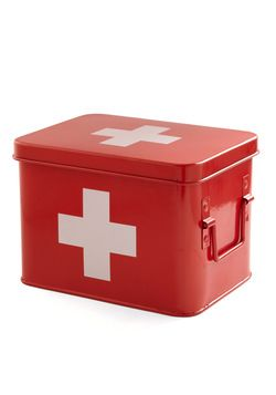 I can never remember which box the first aid stuff is in. This could help a lot... Head Over Healing First Aid Box, #ModCloth