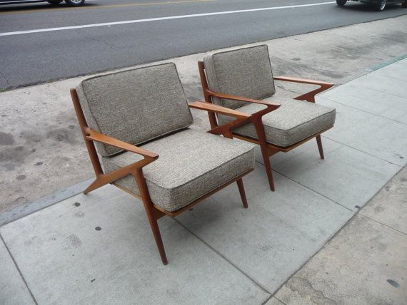 Pair of Selig Z Chairs Mid Century Modern Danish by XcapeVintage