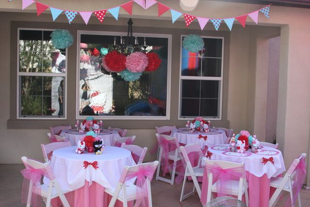 Ultimate hello kitty party from catchmyparty.com. Love the colors!: Kitty Birthday, Birthday Parties, Kitty 7Th, Aqua Birthday, 7Th Birthday, Birthday Party Ideas, Hello Kitty, Catchmyparty With, Birthday Ideas