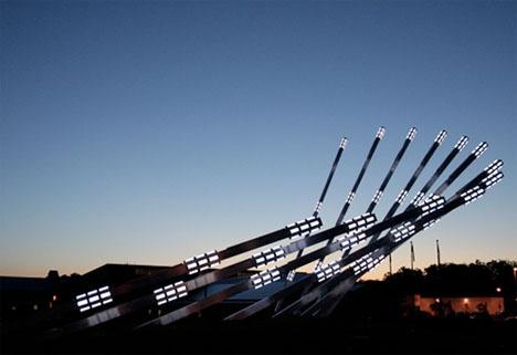 solar collecting sculpture