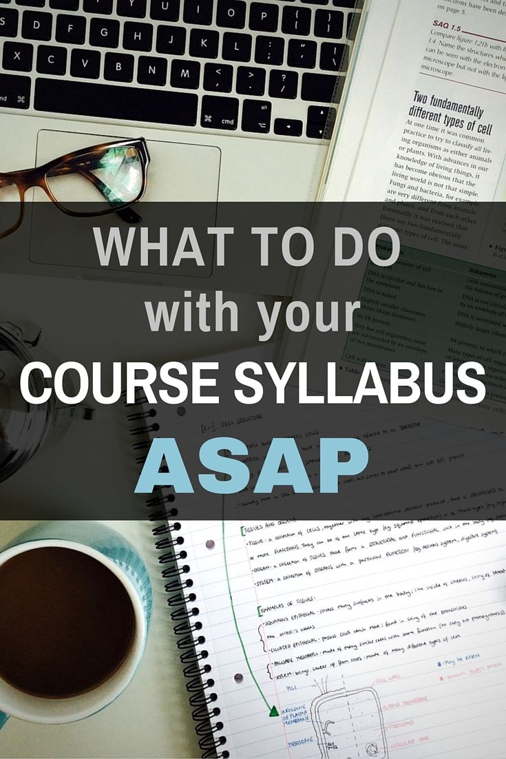 What to do when you get a college class syllabus - These tips will help you start the semester right! Valuable info for helping you to get good grades by being prepared.