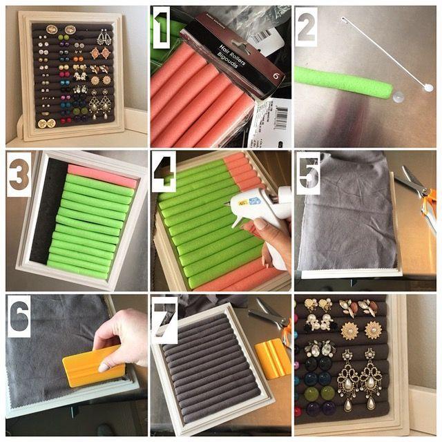 DIY Schmuck / Earing Organizer Dollar Store Hack! www.facebook.com / … #dollar
