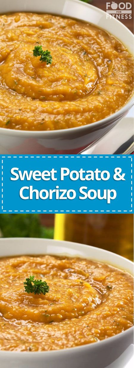 Sweet Potato & Chorizo Soup | This recipe is a contender for the best soup you'll eat this autumn! | FoodForFitness.co.uk | #soup #chorizo #sweetpoatosoup