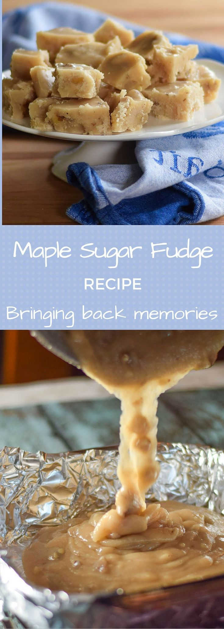 Maple Sugar Fudge Recipe - old fashioned candy made with pure maple syrup bringing back memories of childhood summer nights with mom's treat of popcorn and fudge! #SundaySupper