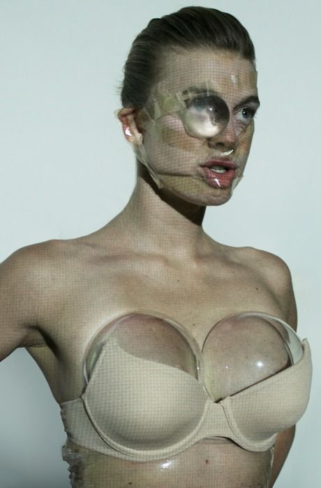 Nick Knight, in collaboration with stylist Alister Mackie and artist duo LucyandBart - Plastic surgery