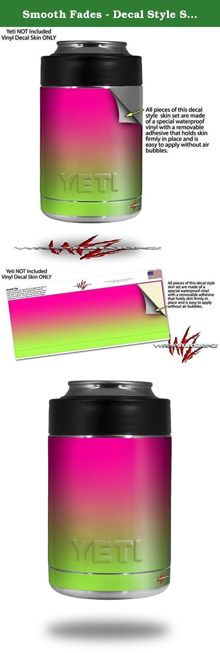 Smooth Fades - Decal Style Skin Wrap fits Yeti Rambler Colster and RTIC Can (COOLER NOT INCLUDED). WraptoSkinzTM skin wraps for Yeti Ramblers are printed using superb photo quality designs and vibrant colors printed with special fade resistant inks that last even in direct sun for years. WraptorSkinz are a composite of two layers of commercial grade materials. The bottom layer is a soft, flexible vinyl with a special removable adhesive that is easily positioned, applied without air…