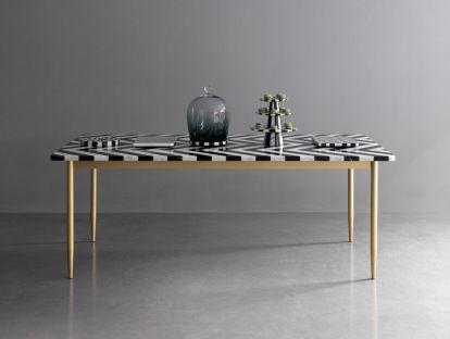 Dining Table Herringbone by Bethan Gray & Lapicida | Yellowtrace