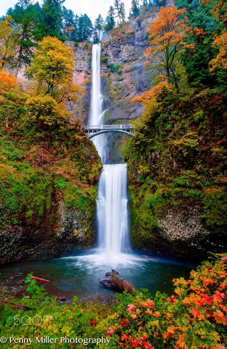 Multnomah Falls In Autumn This Was Taken In Early
