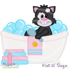 Squeaky Clean-Cat Cutting Files-Includes Clipart