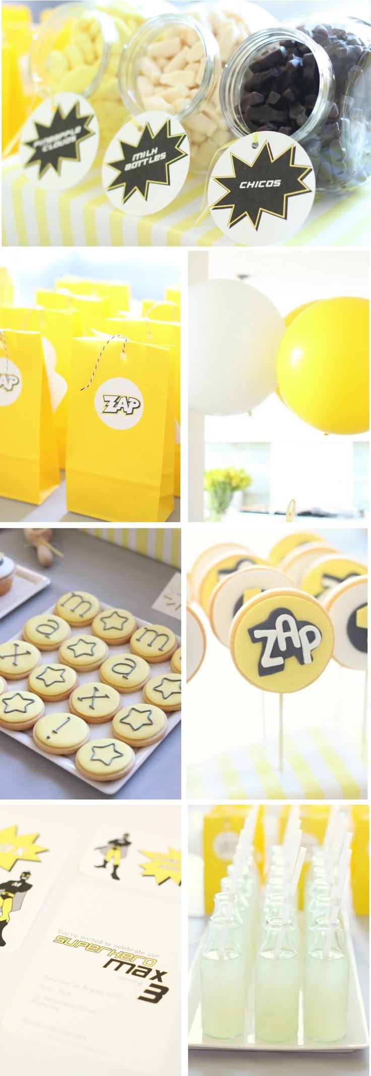 zap! pow! bang! superhero party