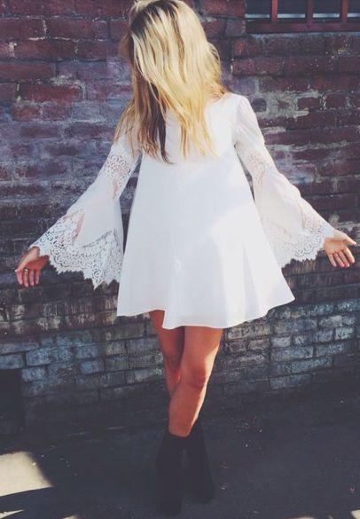 bell sleeve sun dress