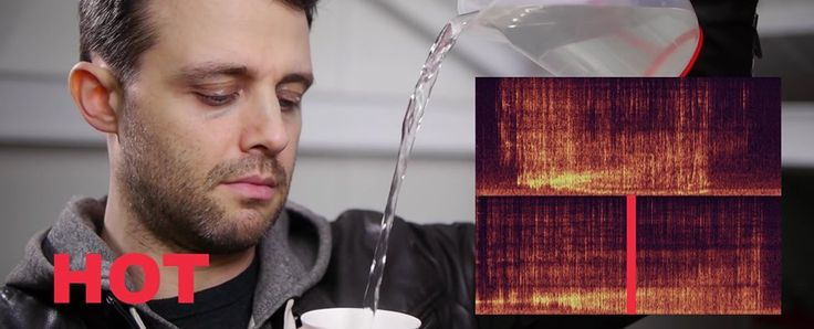 WATCH: Your Ears Can Actually Tell the Difference Between Hot and Cold Water. Skills you didn't even know you had. the molecules  in thicker, cold water have less energy, so they're less excited, meaning they move less rapidly, & become stickier in a sense. There's also less bubbling going on in cold water for the same reasons. And that, as the Naked Scientists explain, creates lower-frequency sounds.