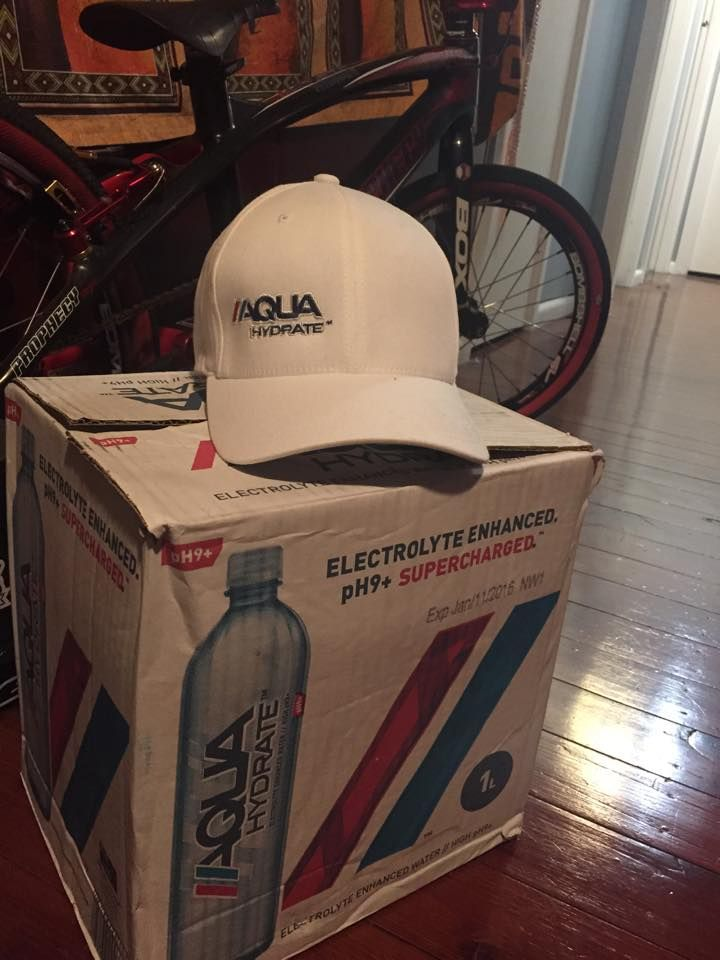 Fresh supply from AQUAhydrate to keep me going through training and racing. Everyone should give this a try!
