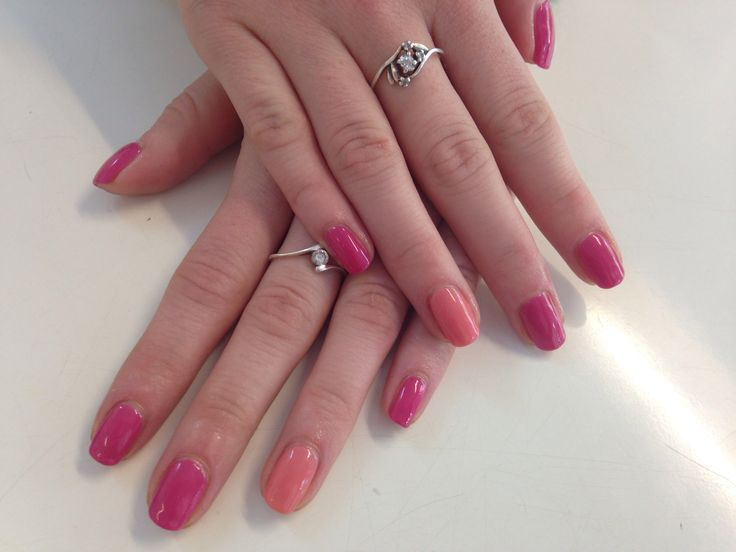 Calgel nails #colourful #summer #calgel #manicure www.fresh-skincare.co.uk