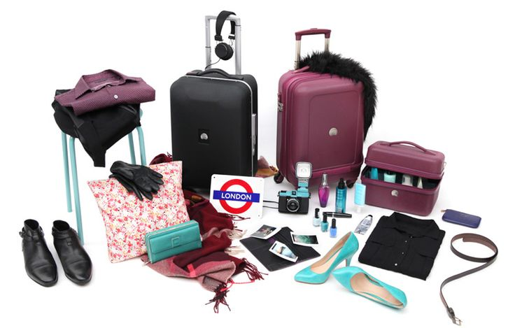 Get the look for Christmas in London #Delsey #purple #suitcase #vanity