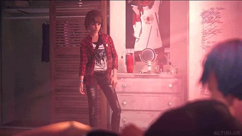 """That's basically how I look like when I try to be cool. Max Caulfield from Life is Strange """"Ready for the mosh pit, shaka brah."""""""