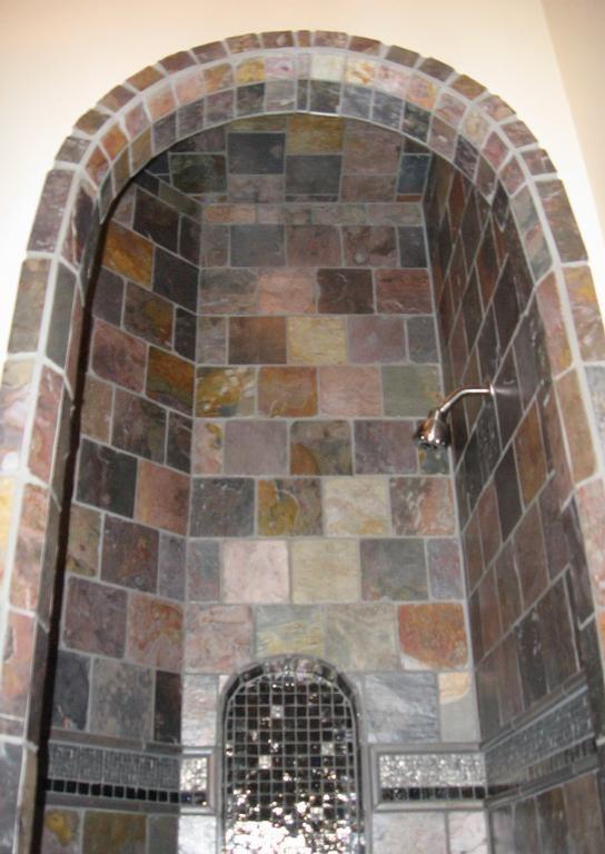 Slate Shower Provided By Anozira Tile Incorporated