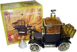 Image result for vintage ford auto decanter bar music box